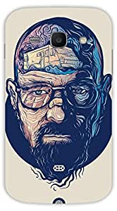 Crazy Beta Man face with 3d tattoos illustartion Printed mobile back cover case for Samsung Galaxy Ace 3