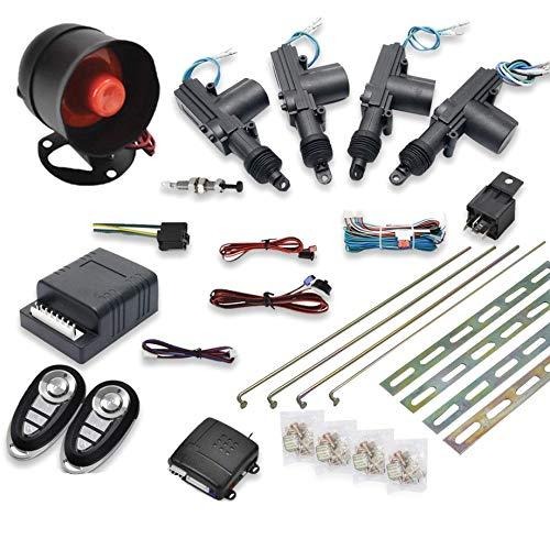 Kit di chiusura centralizzata a distanza per auto universale Kit di accesso senza chiave Allarme antifurto di sicurezza a 1 via con 2 telecomandi