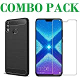 ADRY Combo Offer - Tempered Glass & Zebra Back Cover_Premium Quality Screen Guard And Soft Case Cover For Huawei Honor 8X
