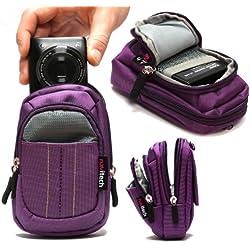 Navitech Housse étui Violet Compatible avec Appareil Photo numérique Canon IXUS 285