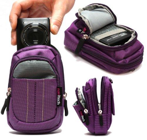 Navitech housse étui violet pour appareil photo numérique Panasonic Lumix DMC-SZ10