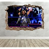 3D Aj Styles Smashed Breakout Wall Sticker Boys Bedroom WWE Decal Poster - Extra Large Landscape 100cm (w) X 70cm (h) preiswert