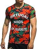 EM Fanshirt 2016 EM Fanshirts Fan T-Shirt Shirt Deutschland Frankreich Italien Portugal Spanien TŸrkei Camouflage T-Shirt; Größe L, Portugal