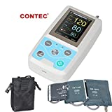 Contec ABPM50 Handheld 24 Hours Ambulatory Blood Pressure Monitor with PC Software for Continuous Monitoring NIBP USB Port with 3 Cuffs