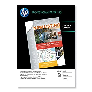 HP Q6594A A3/297 x 420 mm Professional Matt Inkjet Paper, 120 gsm, 100 Sheets