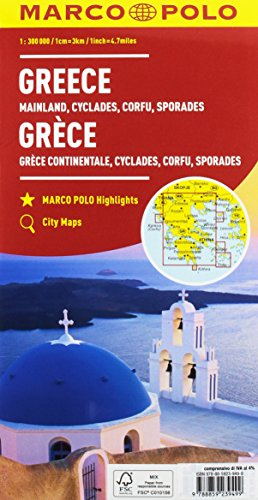 Grecia, Cicladi, Corfù, Sporadi 1:300.000