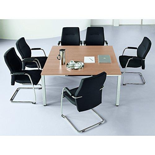 Konferenztisch, quadratisch - HxLxB 720 x 1400 x 1400 mm - Buche-Dekor - Besprechungstisch...