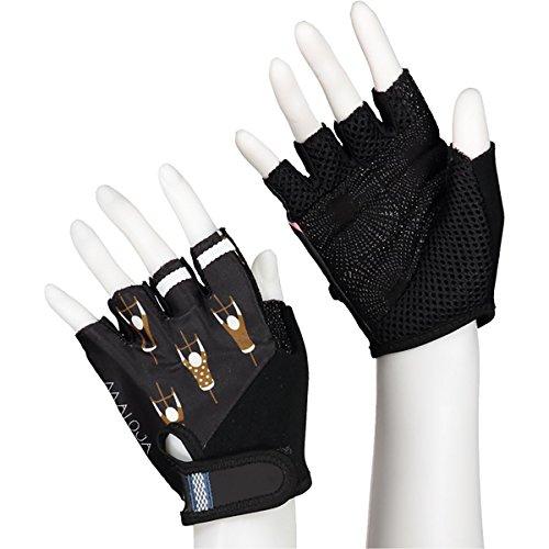 Maloja plaschm Handschuhe für Radfahren, Unisex Erwachsene L schwarz (moonless)