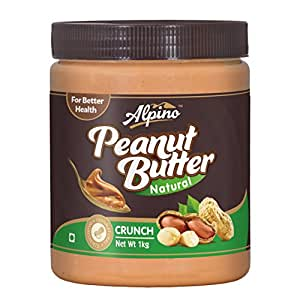 Alpino Natural Peanut Butter Crunch 1Kg (Unsweetened)