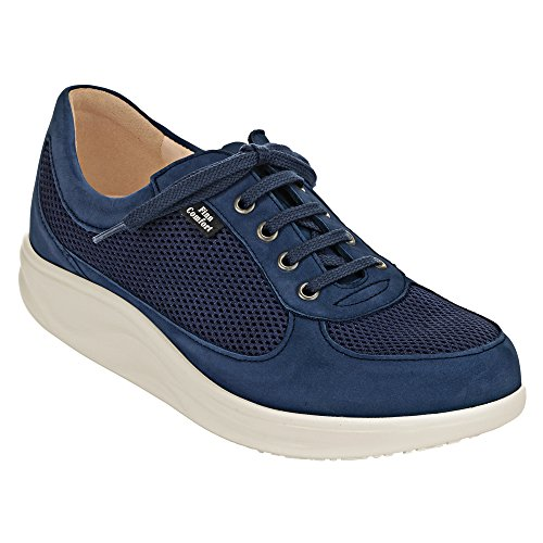 Finn Comfort Womens 2922 Columbia Nubuck Shoes Bleu - Denim