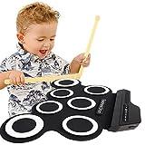 Elettronica Drum Pad Roll Up Set con MIDI Jack da TimeCollect, Contrabbasso pedale, costruito nel altoparlante Jack cuffie per la pratica Starters bambini