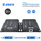 OREI HDMI Extender Over Single CAT5e/CAT6 Cable 1080p With IR PoE Router - Up to 400 FT