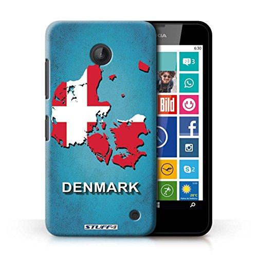 Kobalt® Imprimé Etui / Coque pour Nokia Lumia 635 / Lituanie/Lituanien conception / Série Drapeau Pays Danemark/Danoise