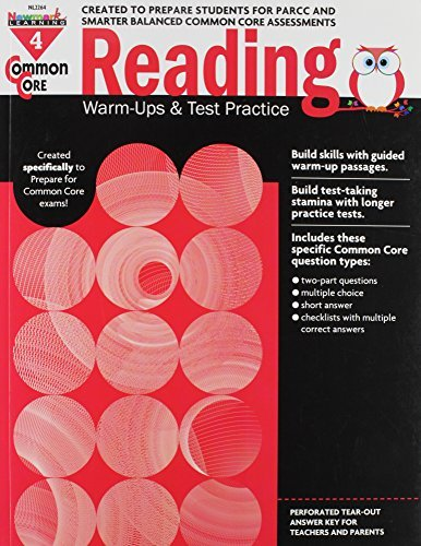 Common Core Reading Warm-Ups and Test Practice Grade 4 by Multiple Authors (2014-10-02)