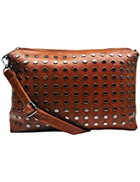 PU Leather Stylish Sling Bag For Girls / Women (Tan Color)