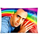 Nicolas Cage Rainbow Pillowcase/Taies d'oreillers 20x30 Inch