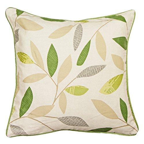 Just Contempo Moderne Vorhänge/Kissen, Baumwolle, grün, Cushion 17x17 inches -