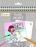 Avenue Mandarine Tierarzt Thema Graffy Post Farbe Ihre eigenen Postkarte (schwarz/weiß)