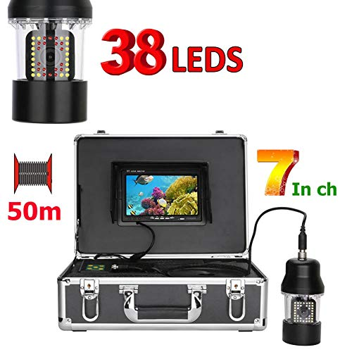MBEN Unterwasserfischerkamera, 7-Zoll-PTZ, 360-Grad-Unterwasser-Überwachungssystem, 38 LEDs, 50 m wasserdichtes Kabel Ccd-ptz-kamera