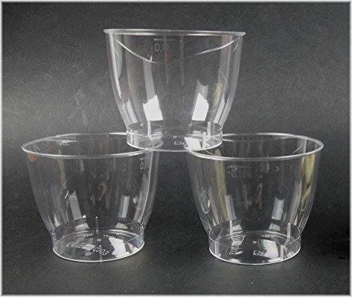 "100x 160ml Dessert Becher Einweg, edles Design, ""Cool Cup"" Dessertbecher aus PS Dessertschale"
