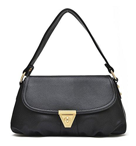 Keshi Hobo Schultertaschen Trend Stil Damen Wildleder Beuteltaschen Velours Handtaschen neuer Bags Beutel Tasche Leder Schwarz Veloursleder Bags Xpx0qRvwrX