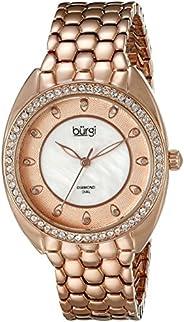 Burgi Women's BUR145RG Quartz Watch With Swarovski Cry