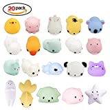 LEEHUR 20Pcs Cute Soft Squishy Toy, Squishy Toy Stress Relieve Toy Squishies for Kids Children Adults