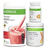 Herbalife Nutrition 1 (Strawberry) with Personalized Protein Powder -200 g and Afresh -Cinnamon