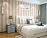 ADLFJGL Moderne Bronzierens Vlies Streifen Tapeten Wohn - Und Schlafzimmer Wand 0.53M×10M Ranunculus Hinzu Eleganz Rot Wallpaper