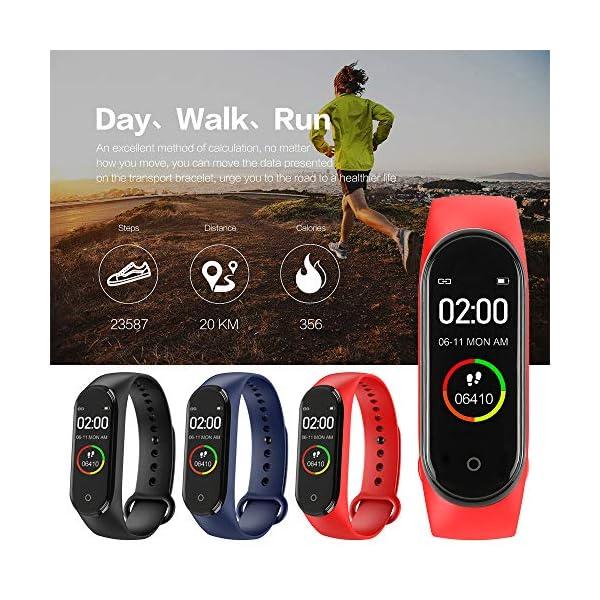 Nueva Pulsera Inteligente M4 con Pantalla a Color IPS, Reloj de Actividad a Prueba de Agua con Monitor de Ritmo cardíaco… 3