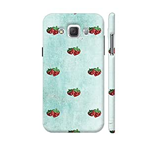 Colorpur Strawberry Fresh Fruit Summer 2 Designer Mobile Phone Case Back Cover For Samsung Galaxy E5 | Artist: UtART