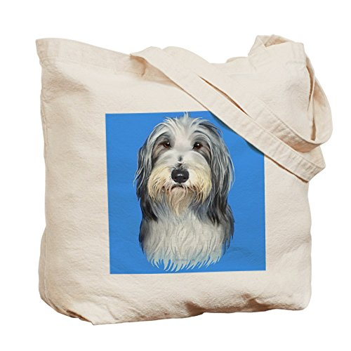 CafePress – Bearded Collie, Blau – Canvas-Tasche, Tuch, mit Tasche, canvas, khaki, S