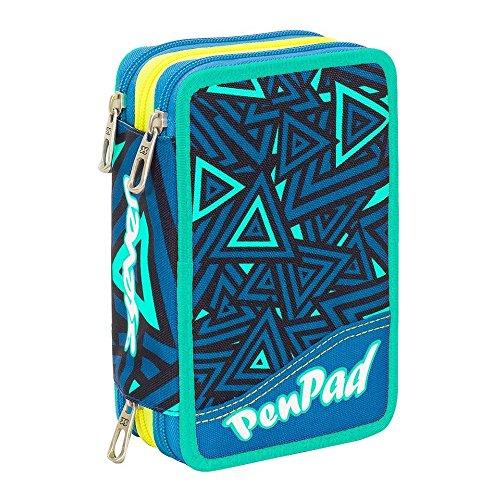 Pen pad astuccio seven 3 zip lavabile shifty boy blu completo penne frixion colori giotto collezione 2018 astuccio 3 cerniere con colori