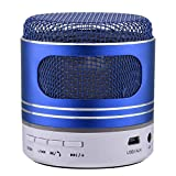 HappySDH Mobiler Bluetooth Lautsprecher, Bluetooth Tragbarer LED Lautsprecher Stereo Boombox Musikboxen Speaker mit Reinem Bass für Indoor Outdoor Android iPhone Tablets, Laptop, PC (Blau)