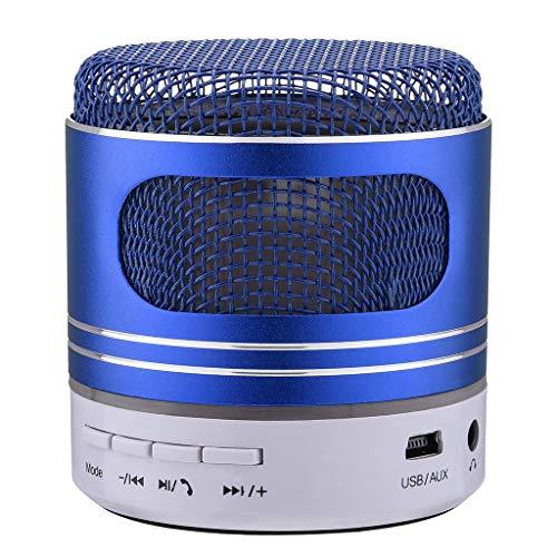 HappySDH Mobiler Bluetooth Lautsprecher, Bluetooth Tragbarer LED Lautsprecher Stereo Boombox Musikboxen Speaker mit Reinem Bass für Indoor Outdoor Android iPhone Tablets, Laptop, PC (Blau) - Surround-system-basis