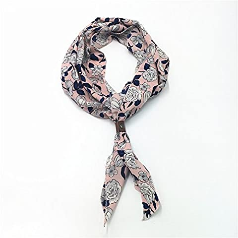 Ajunr-Chiffon Foulard Fashion Décoration D'Angle Dame Ovale Écharpe Plaid 125*34Cm D