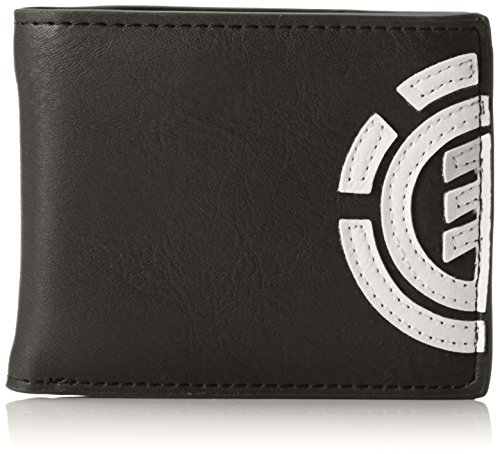 Element Herren Daily Wallet Geldbörse, 1x7x9 cm Schwarz (Flint black)