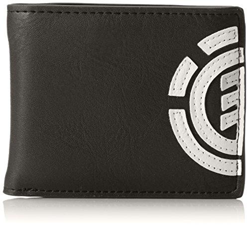 Element Herren Daily Wallet Geldbörse, Schwarz (Flint Black), 1x7x9 cm