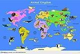 Animal Kingdom Map [Printed on Vinyl] (137 x 97 cm)