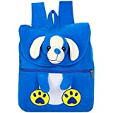 Kids School Bag Soft Plush Backpack Cartoon Toy, Children's Gifts Boy Girl/Baby/ Decor School Bag For Kids (Dog Blue)