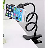 Flexible Mobile Phone Holder with Clipper - Black