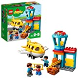 LEGO 10871 DUPLO My Town Airport Building Set with Airplane Toy, Build and Play Toy Bricks for Kids 2-5