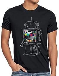 style3 Mire de Traînage Robot T-Shirt Homme sheldon