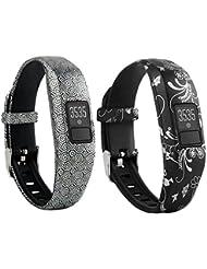 VAN-LUCKY Bracelet de remplacement avec boucle en métal pour Garmin Vivofit 3 avec fermoirs Bracelets de fitness adaptés à toutes les tailles(Pas pour Garmin Vivofit/Garmin Vivofit 2,Pas de Traqueur)