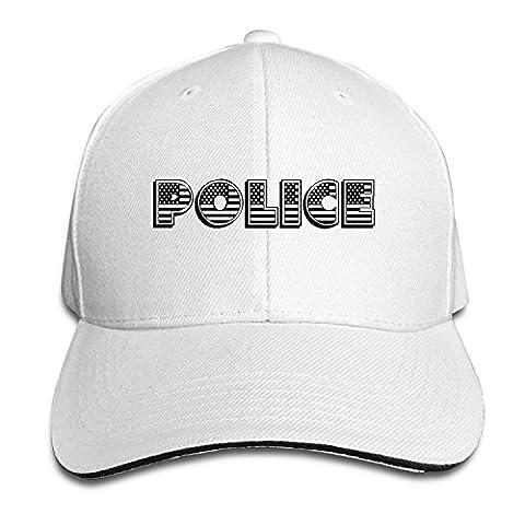 BestSeller Police USA Flag Adjustable Sandwich Peaked Baseball Caps Hats For Unisex