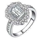 UINGKID Schmuck Damen Ring Halo Diamonds Vintage s Rose Gold Zirkon Mode Zubehör