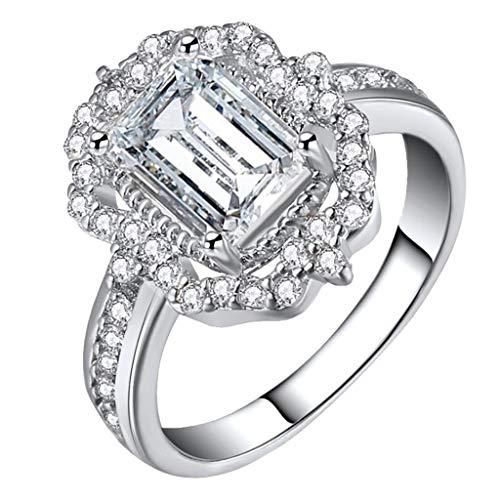 n Ring Halo Diamonds Vintage s Rose Gold Zirkon Mode Zubehör ()