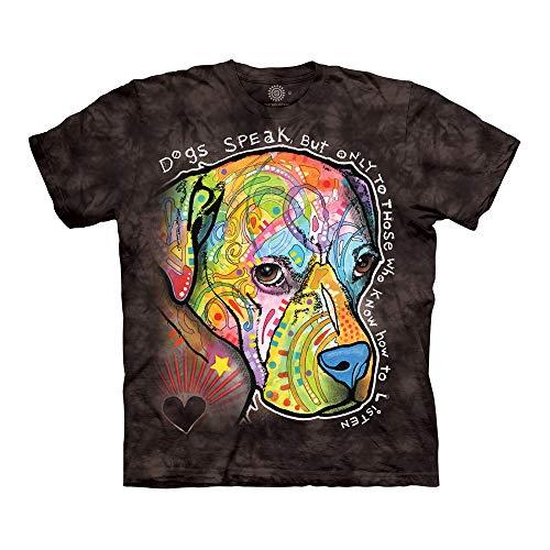 The Mountain Unisex-Erwachsene Dogs Speak T-Shirt, schwarz, 4X-Groß