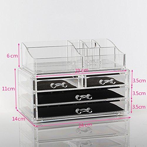 Boîte de rangement cosmétique transparente, soins de la peau boîte de finition table de toilette étagère bureau tiroir grande boîte de rangement ( style : N ° 6 )