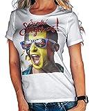 Stylotex Damen/Girlie T-Shirt So sehn Sieger aus Shout for Belgien Belgium, Größe:L, Farbe:Weiss